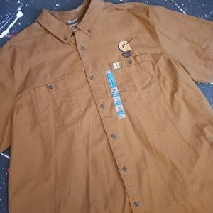 Carhartt   chore canvas work shirt NWT